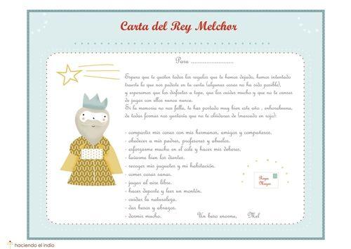 Carta De Los Reyes Magos Para Descargar Carta A Los Reyes Cartas Reyes Magos Rey Mago