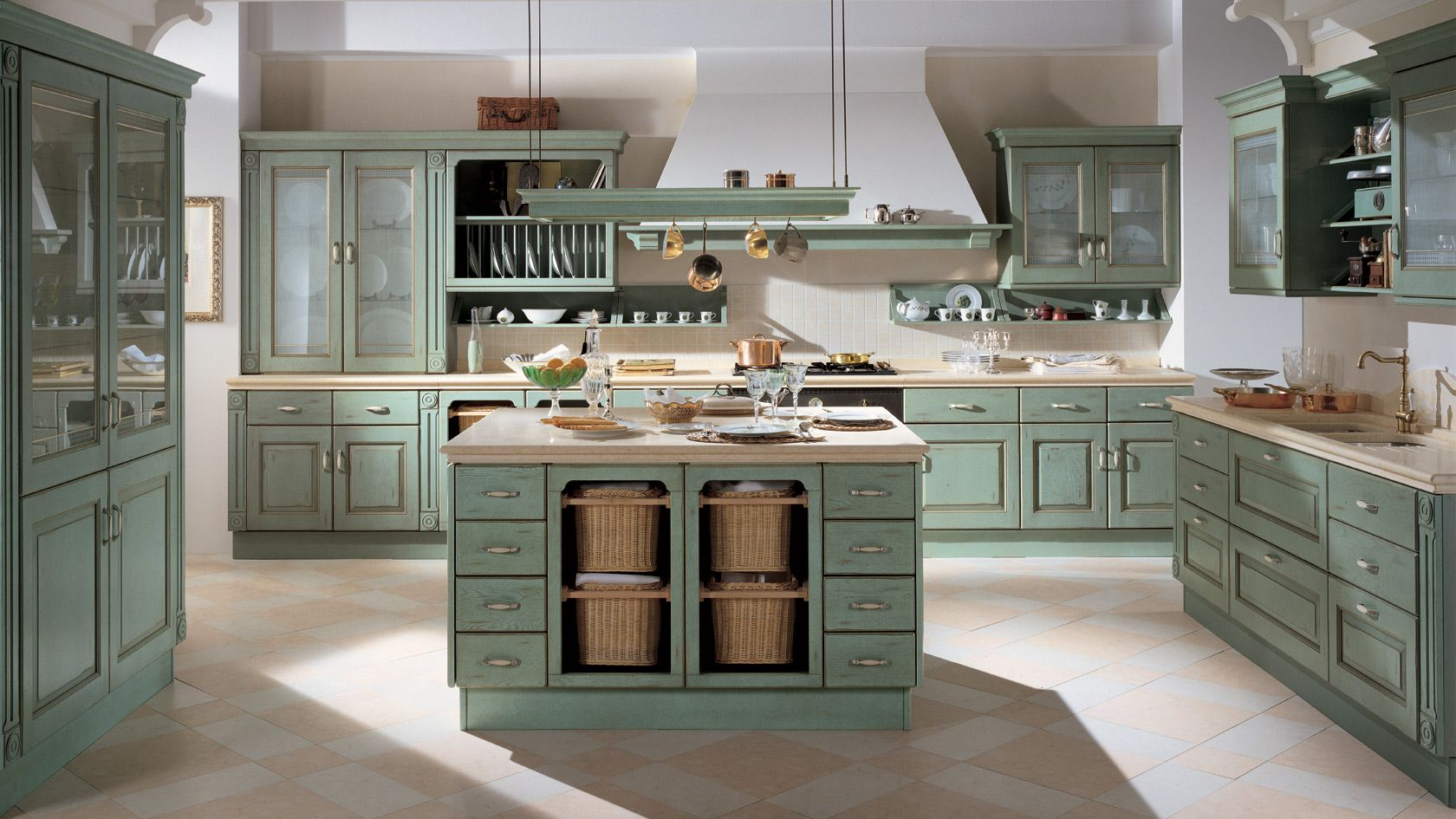 Distressed sage green kitchen cabinets awesome sage green kitchen