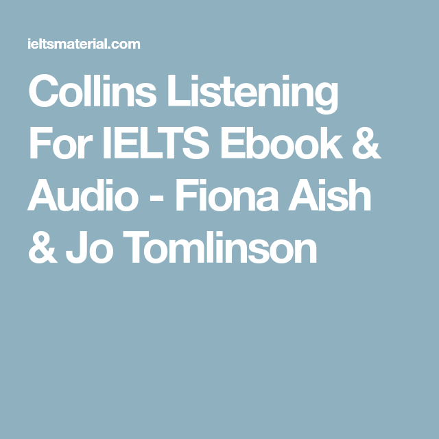 Ebook Listening For Ielts Collins