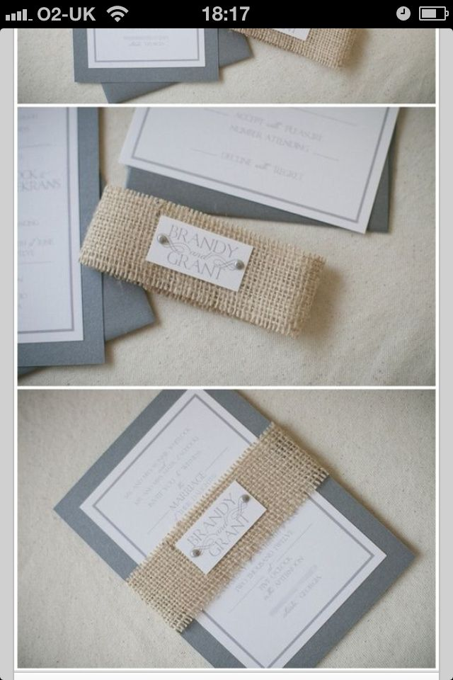 Invite wburlap wrap do initial stamp d pinterest hessian invite wburlap wrap do initial stamp solutioingenieria Image collections