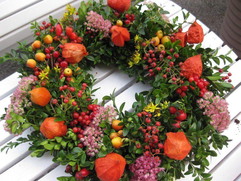 Herbstkranz Feuerzauber von KranzMarie auf DaWanda.com #herfstdecoraties