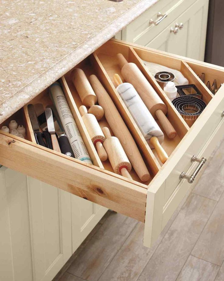 DIY Ideas for Impeccably Organized Drawers #organizekitchen