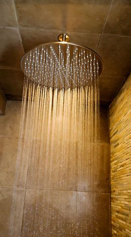 TE620 Ceiling Mounted Rain Shower Head With Extension Pipe   Modern    Showers   Vancouver