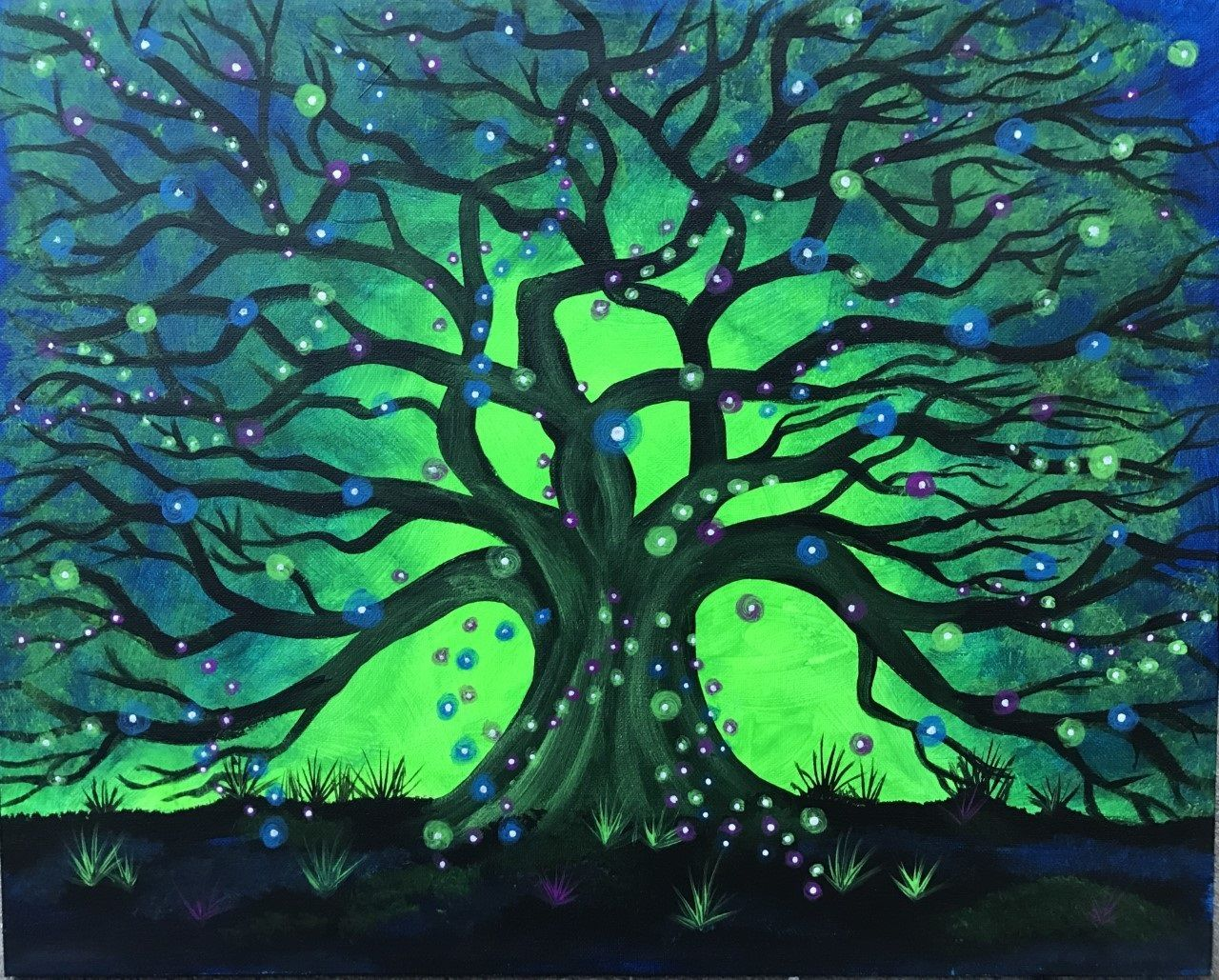 Green, purple, orange - Choose what color you\'ll paint Tree of ...