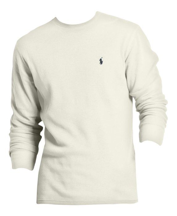 Polo Ralph Lauren Mens / Boys Long Sleeve Waffle Knit Thermal T ...
