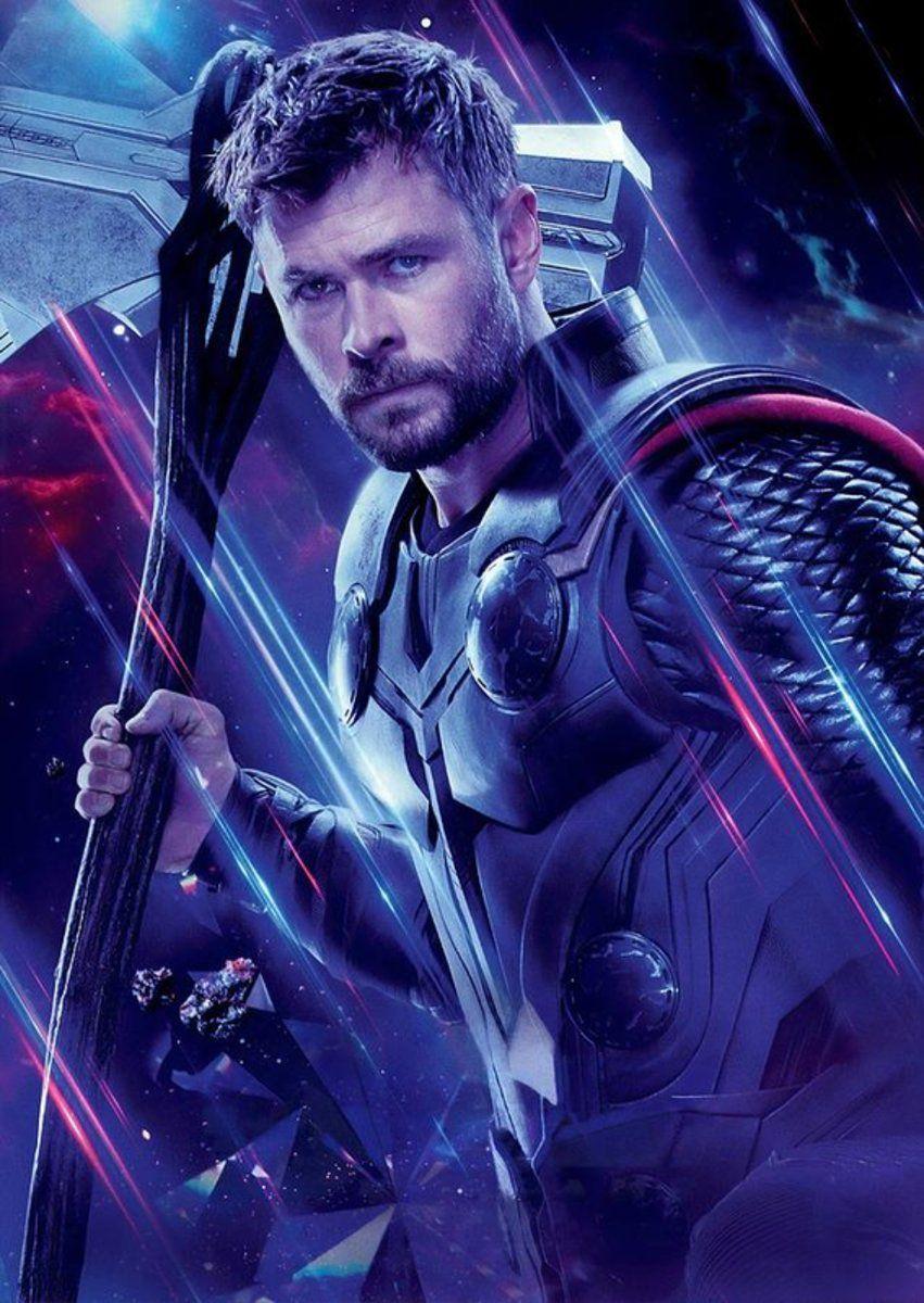 Avengers Endgame Thor - Superhero – Poster - Canvas Print - Wooden Hanging Scroll Frame