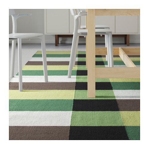 elegant stockholm tapis tiss plat fait main carreaux vert carreaux vert with tapis ikea vert. Black Bedroom Furniture Sets. Home Design Ideas