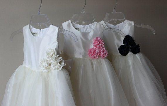 ZOE  Sale  Handmade Flower Girl Dress Tulle Dress by SasAndAsa, $79.00