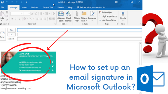 A Quick Way to add an email signature in Microsoft Outlook