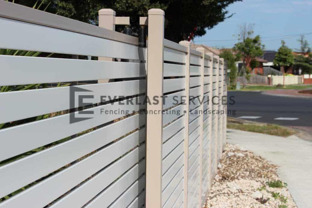 Aluminium Fencing Melbourne Metal Slat Fence Quotes With Images Sliding Gate Slats Fence