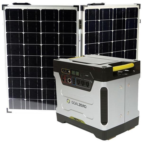 Goal Zero Yeti 1250 120 Portable Off Grid Kit Off Grid System Solar Generator Goal Zero