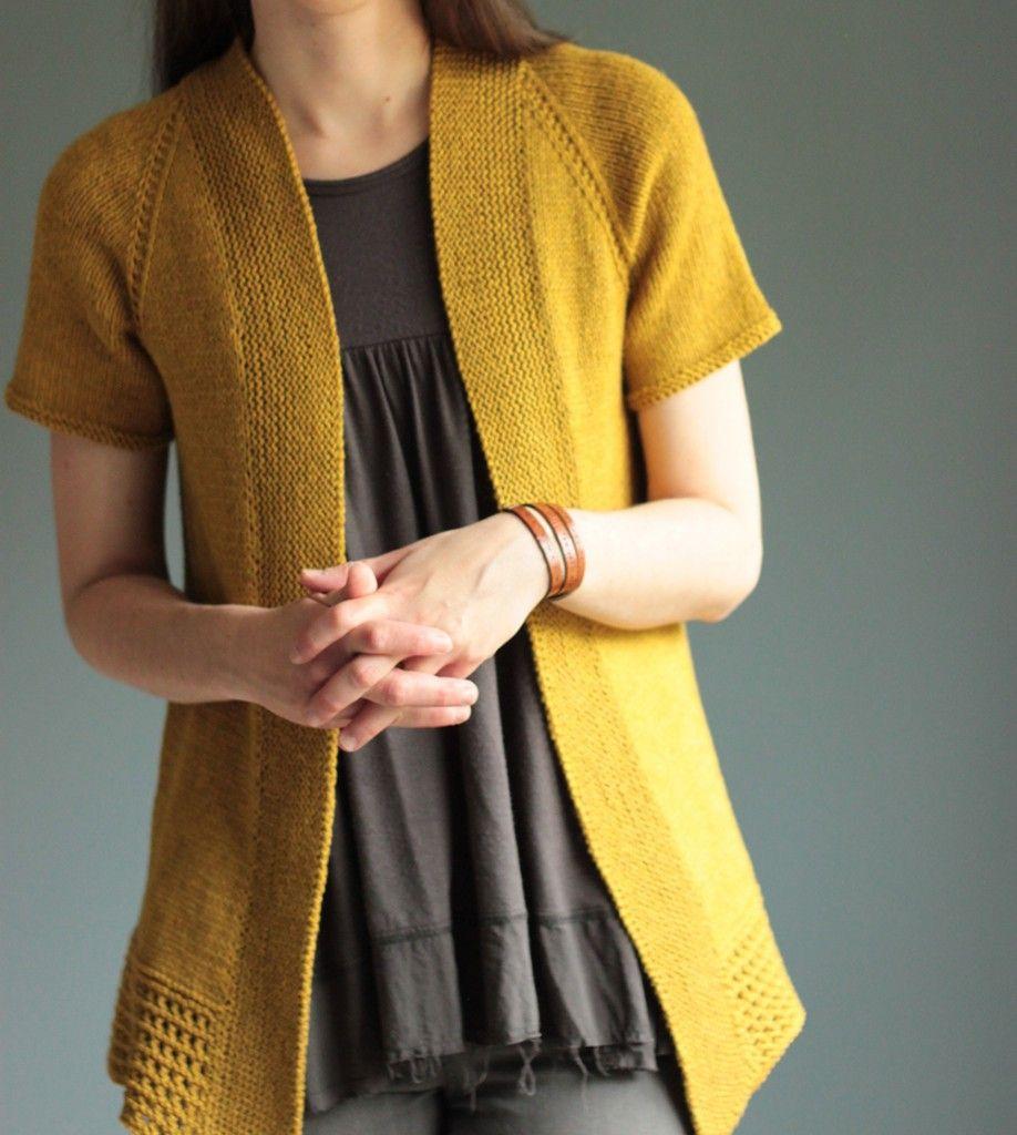 Passing Showers Short-sleeved cardigan pattern | Knitting ...