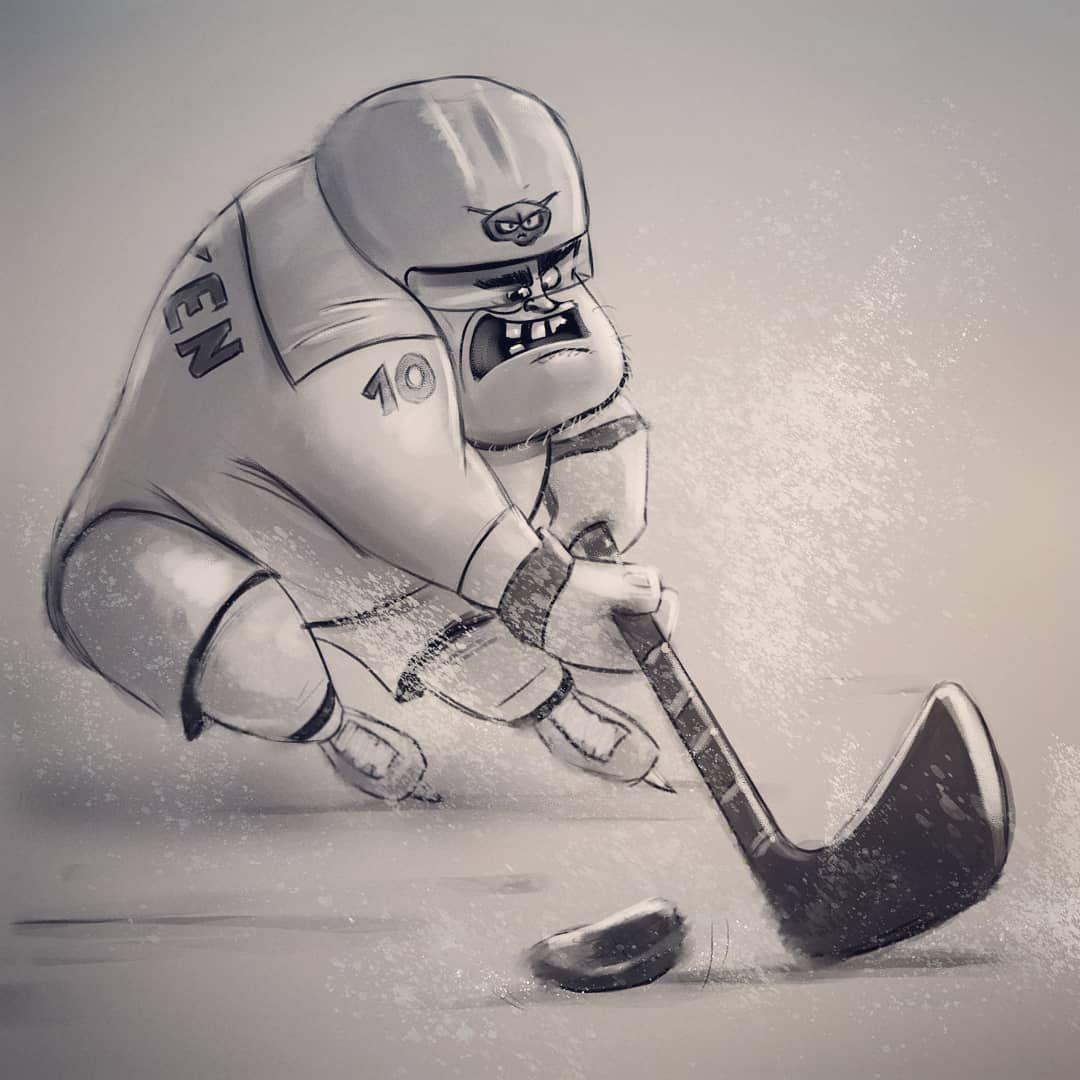 Teckningar Hockey