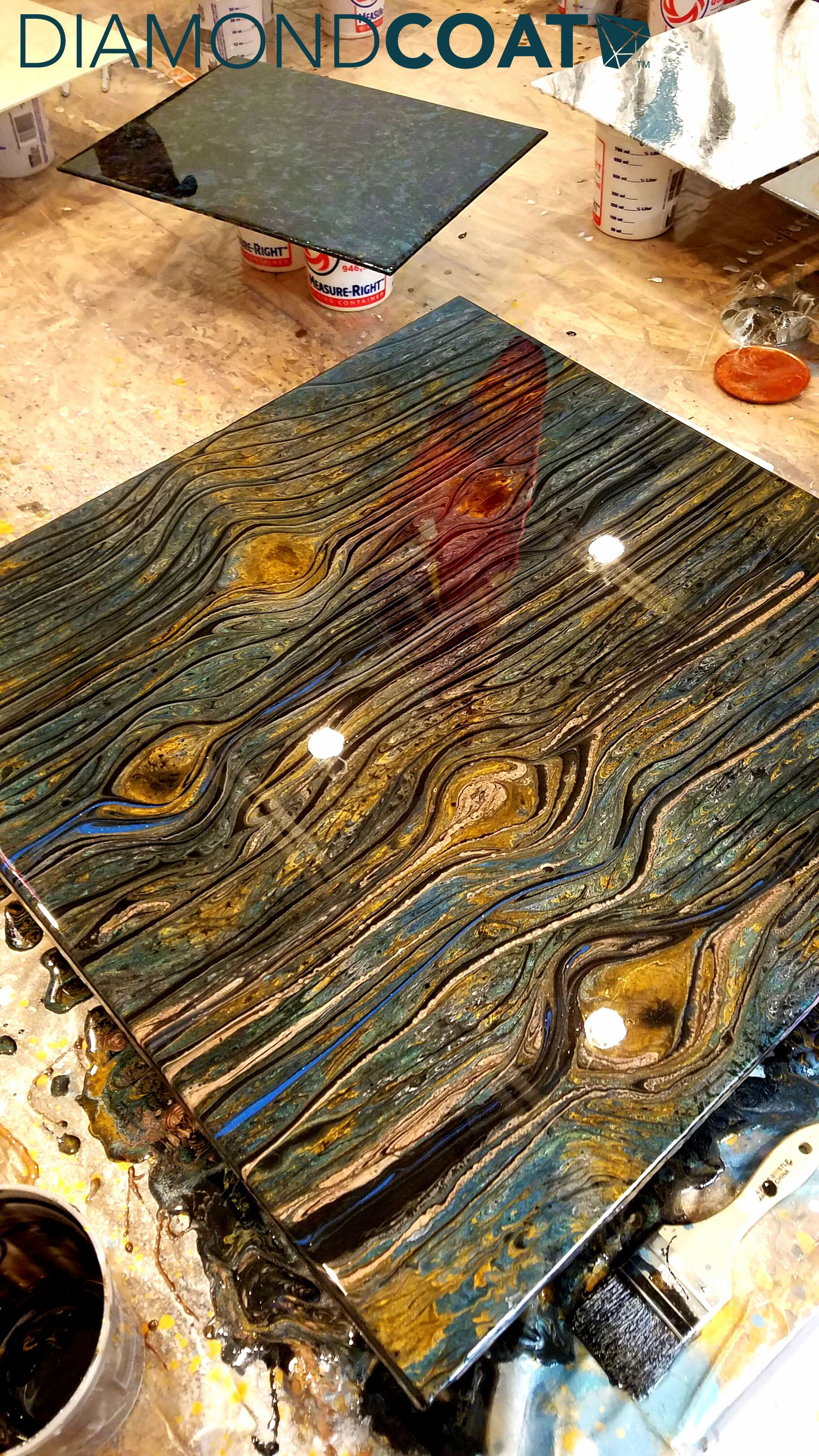 This Epoxy Wood Grain Effect Is Just One Of The Many