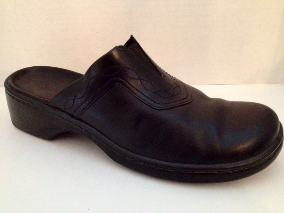 b6726a17f307 Clarks  Shoes Womens Size 10 M Black  Heels Slides 70401 Leather Brazil  Mules 10M  Clarks