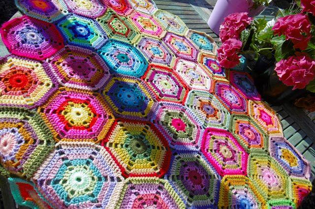 Scrap Hex Pattern Susan Pinner Blanket Pinterest Scrap