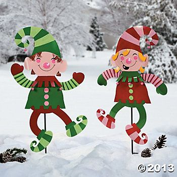 elf yard decorations elf yard stakes party supplies outdoor decor garden indoor - Elf Outdoor Christmas Decorations