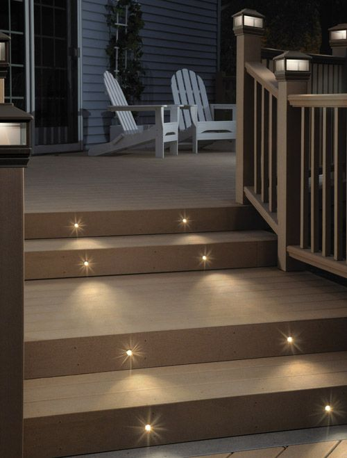 Stair lighting ideas for the patiodeck would also be great at the stair lighting ideas for the patiodeck would also be great at the front entrances for nighttime visitors aloadofball Image collections