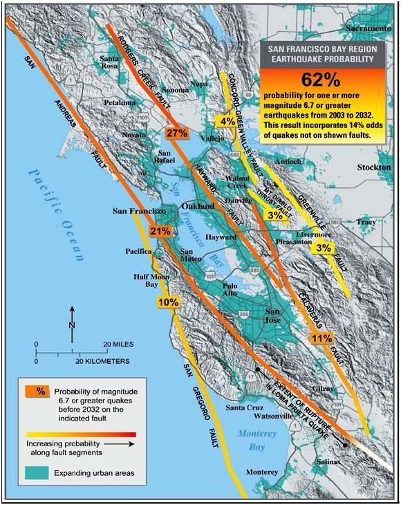 California Fault Line Map California Fault Line Map   Restless Pla  Pinterest   Geology  California Fault Line Map