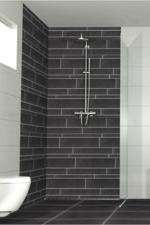 Procasa basics tegelstrook badkamer wc pinterest badkamer tegels en wc for Badkamer tegel metro
