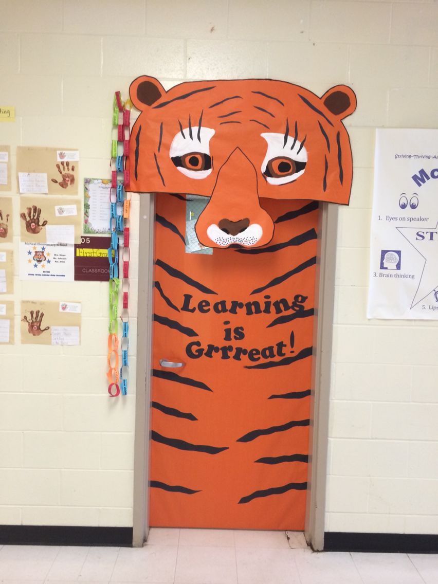 Tiger Mascot Classroom Door!!! | School | Pinterest ...