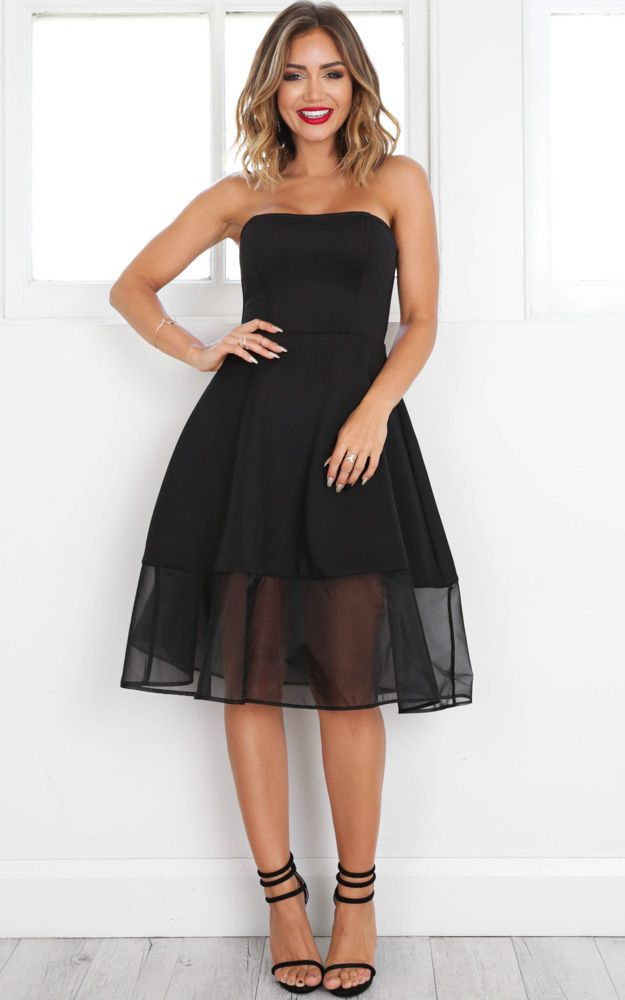 Picture Perfect Dress In Black Produced in
