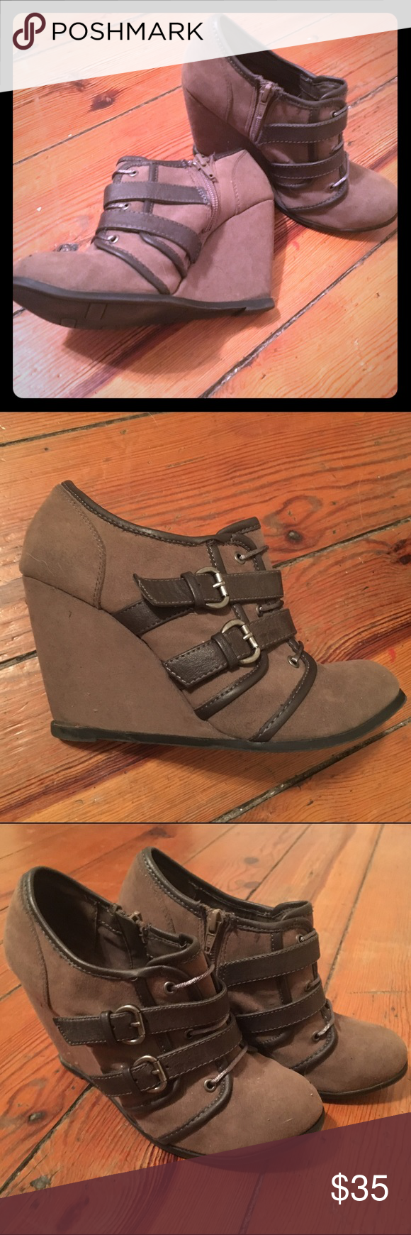 Fergalicious ankle boots Super cute and versatile booties. Perfect for the fall and winter and so easy to walk in! Fergalicious Shoes Ankle Boots & Booties