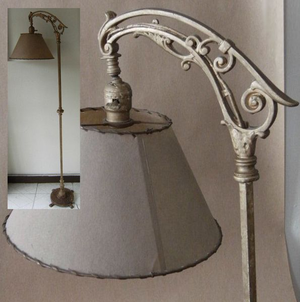 Antique Bridge Arm Floor Lamp In 2019 Antique Floor