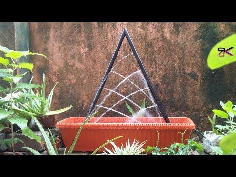 How to make Amazing PVC Fountain at Home | Outdoor Fountain DIY #fountaindiy