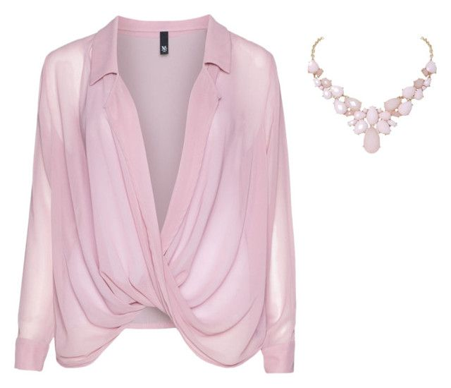 """Manon Baptiste Draped chiffon blouse"" by almas08 on Polyvore"