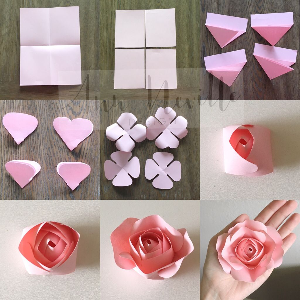 Diy Small Rose Paper Flower Tutorial Paper Flowers Craft Paper Flower Template