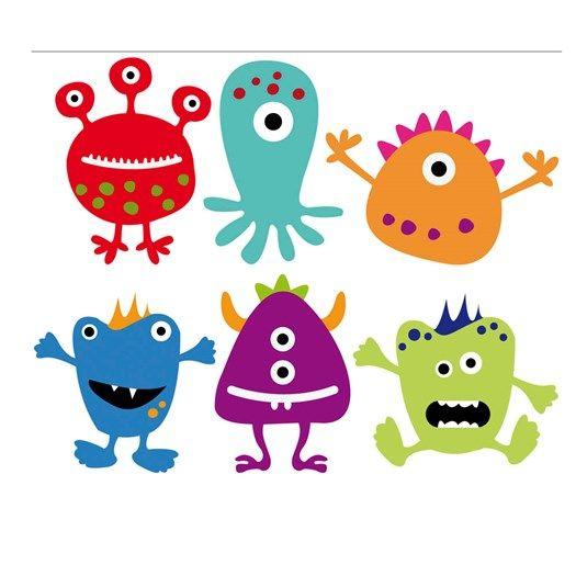 monstruos_detalle | Vesmir | Pinterest | Cumple, Cumpleaños y Infantiles