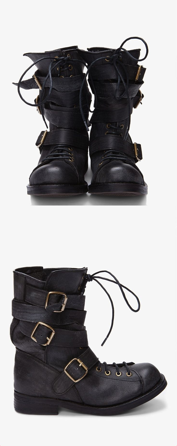 Black Cracked Low Army Boots | Jeffrey campbell, Man boots and ...