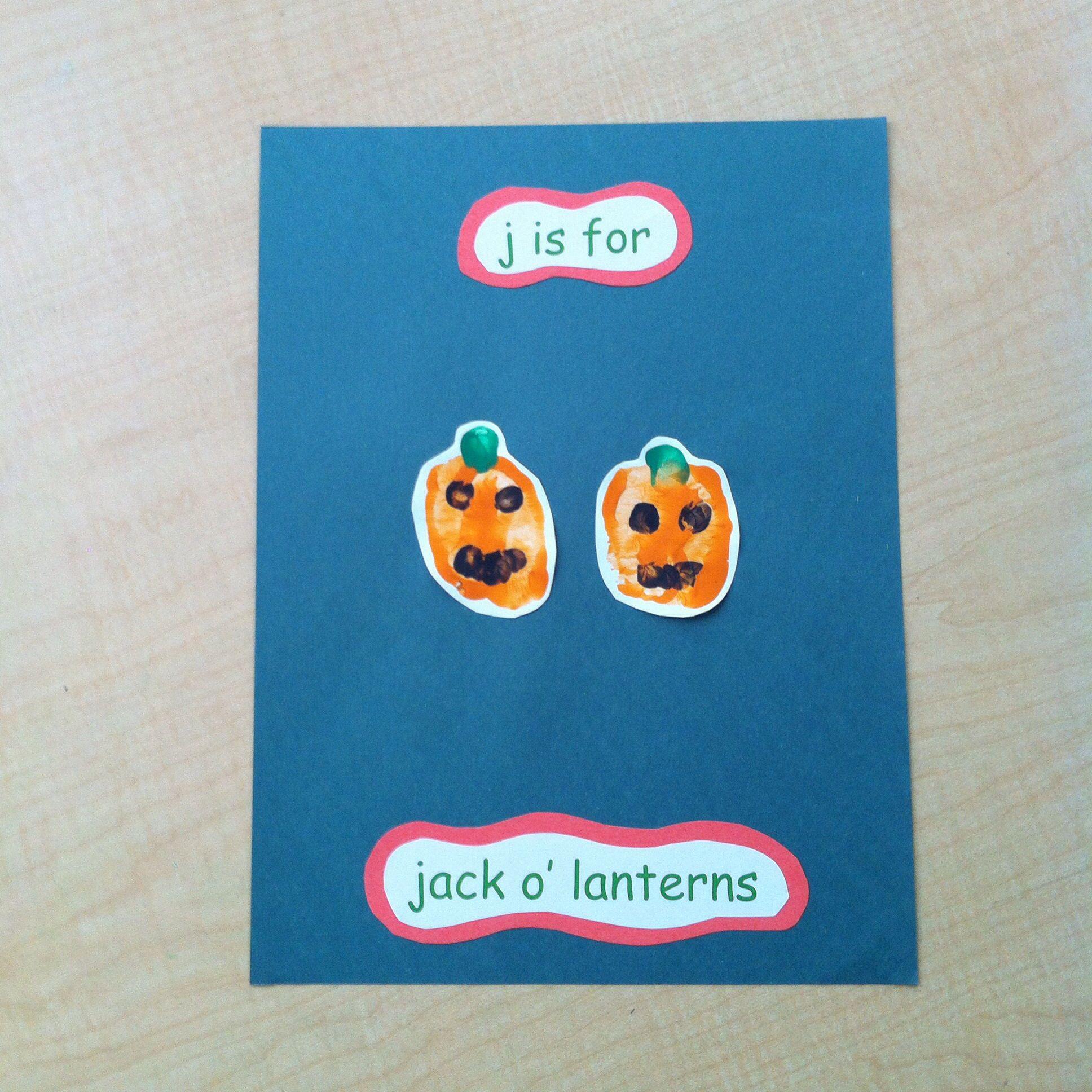 J Is For Jack O Lanterns Handprint Pic