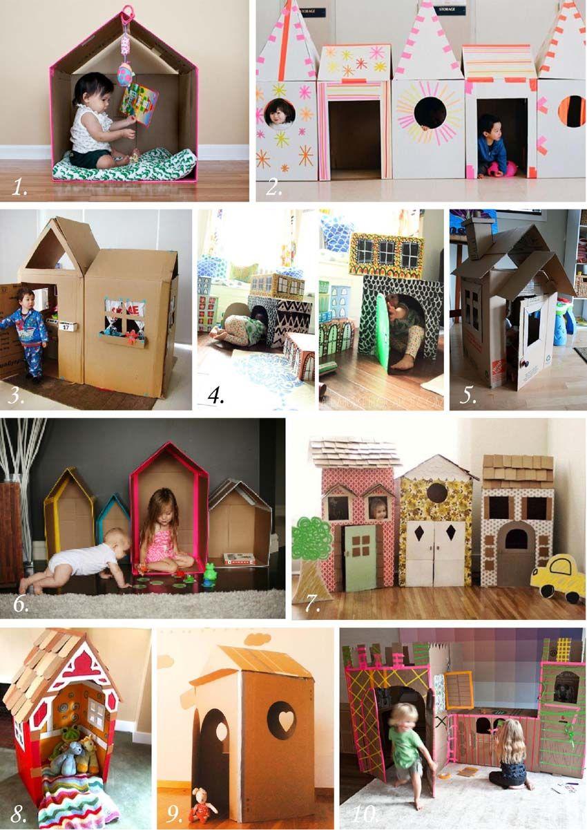 Cómo Hacer Una Casa De Cartón Inspiración Y Materiales Parte I Rejuega Y Disfruta Jugando Casa De Cartón Casas De Cartón Casa De Juguete