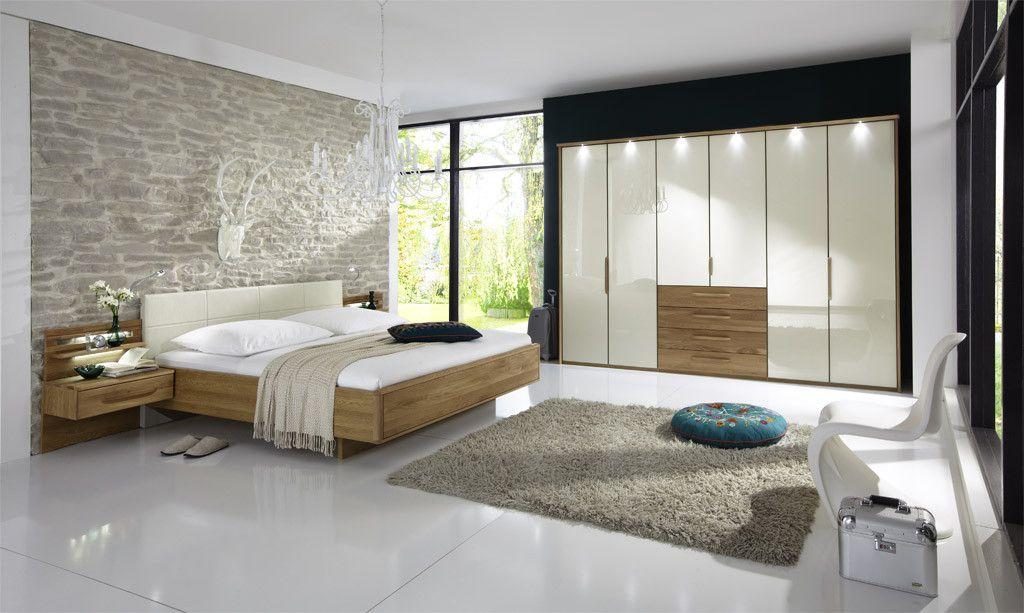 Schlafzimmer Mit Bett 180 X 200 Cm Magnolie\/ Eiche Woody 138-00183 - schlafzimmer eiche