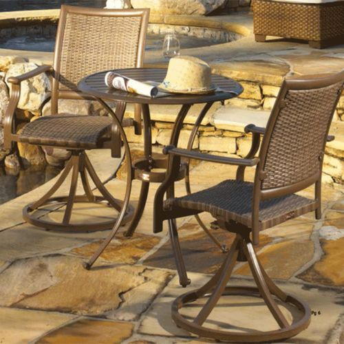Island Cove 3 Pc Bistro Set With 2 Swivel Chairs And 30 Table