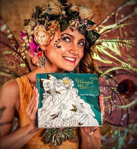 Our new coloring books have arrived, after a printer delay! If you pre-ordered Winged Beauty, featuring faerie art from Charles Vess, Renae Taylor, Cory Godbey, Stephanie Law, and Ruth Sanderson, your copy will ship out by today. The book is making its way to Barnes & Noble where you'll find it glimmering from the magazine stands (though not necessarily with Twig smiling out from above it.). And of course you can order through our website. http://www.faeriemag.com/collections/other