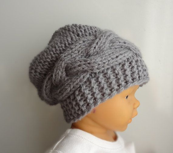 424f0a0ae70 Newborn Hipster Hat - Baby Fall Winter Hat - ANY COLOR - Photo Prop Hat - Newborn  Knit Hat - Toddler slouch hat - Slouchy Baby Beanie