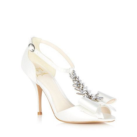 0189d0977e58 No. 1 Jenny Packham Ivory  Louella  jewel bow sandals- at Debenhams ...