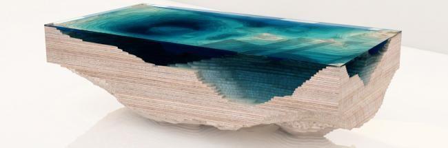 Vista lateral de la mesa Abyss WANT! Pinterest