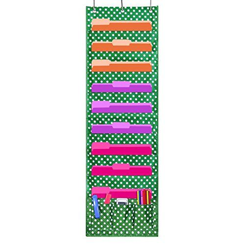Godery Wall Pocket Chart Organizer, School Pocket Chart 9   - bill organizer chart