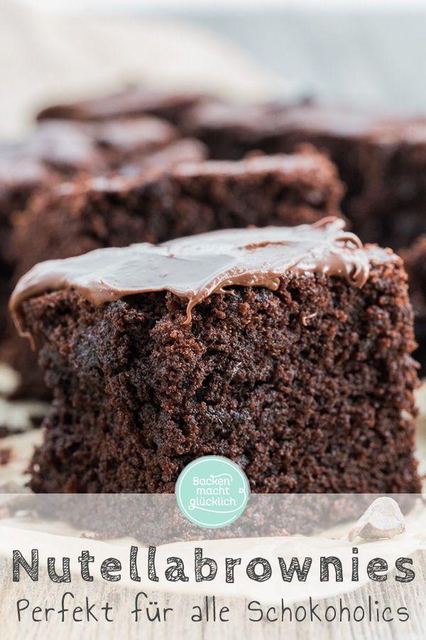 Nutella Brownies Rezept Backen Macht Glucklich Rezept Nutella Brownies Backen Mit Nutella Nutella Kuchen