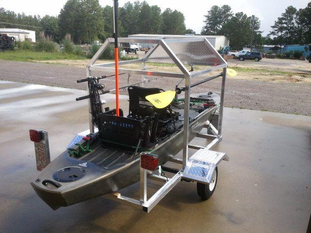Storing Bikes On Boats: Custom Aluminum Kayak & Bike Trailer From WGSS.Biz