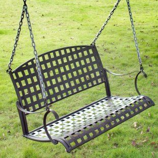 I've never seen a metal porch swing but I like it!