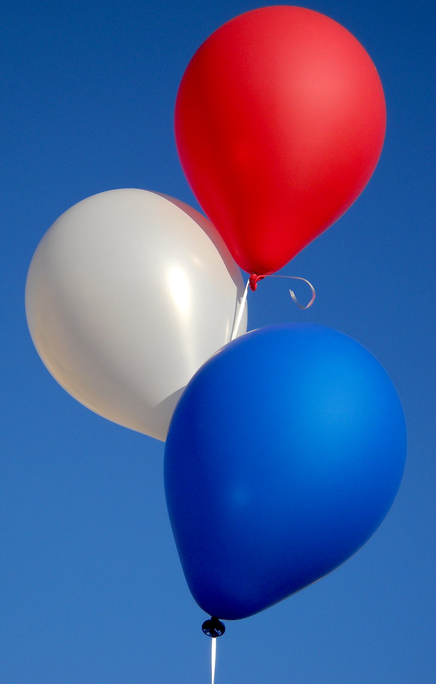 Balloons Blue Balloons Red White Blue Red And White