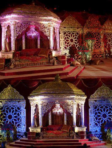 Dubai arabic wedding wedding decoration pinterest for Arabic stage decoration