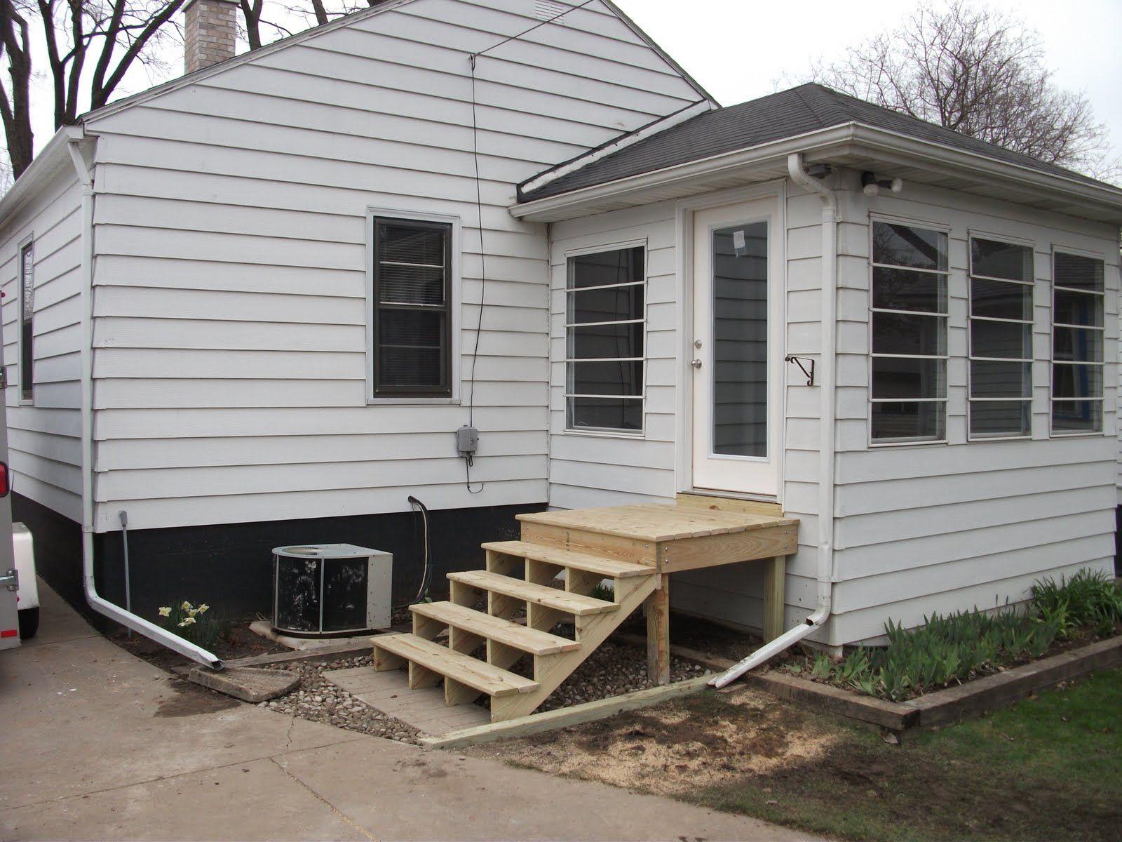 Back Door Steps with Landing Scoakat s Blog exterior