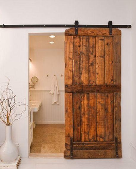 Porte de grange soul inside portes pinterest - Porte de grange coulissante en bois ...