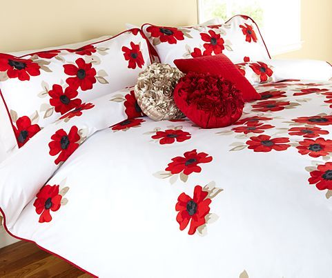 Poppy Red Design Bedding Asda Direct Nats Bed